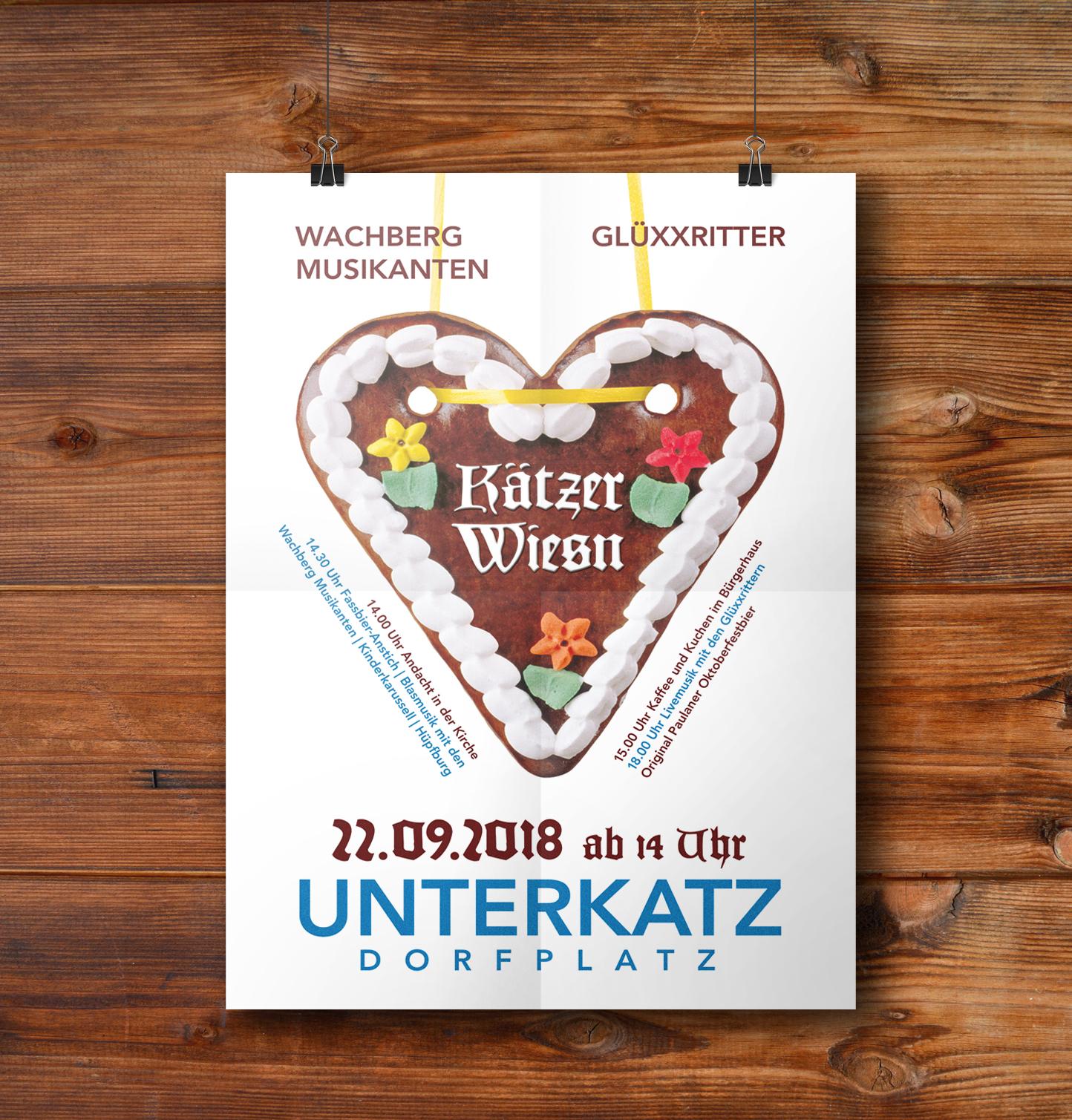 Plakate A2 Kaetzer Wiesn 2018