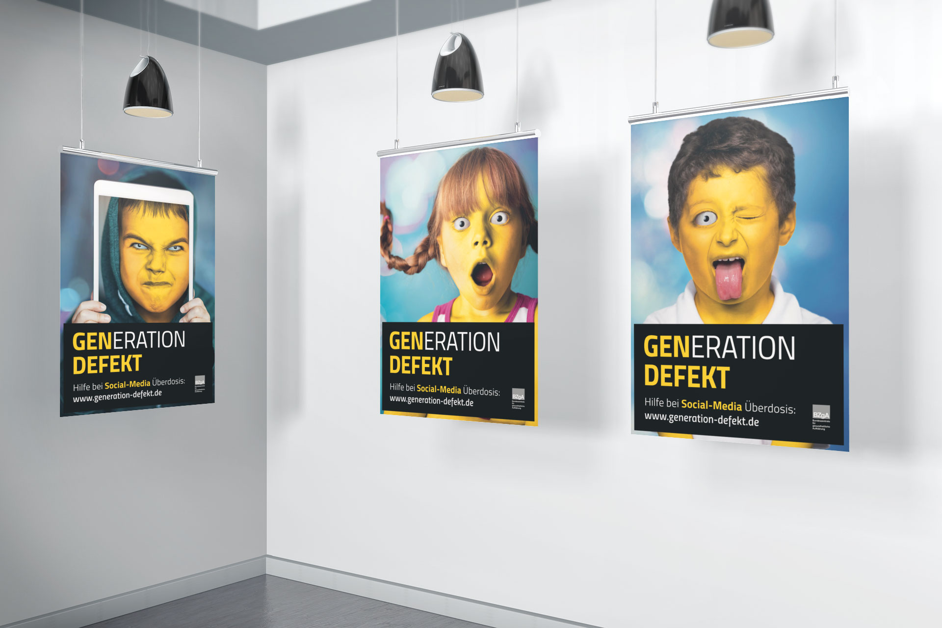 MockUp Plakatserie Generation defekt emoji diploma Hochschule
